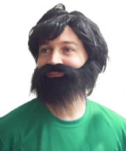 George Best Football Fancy Dress Wig & Beard